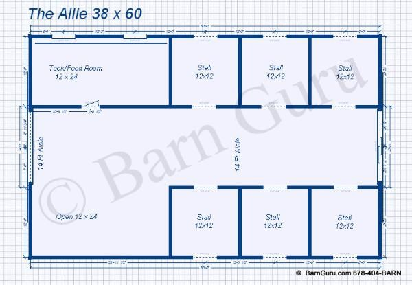 6 stall horse barn plans someday pinterest