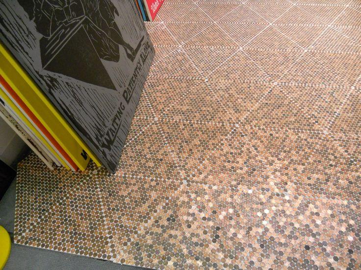 Penny floor pattern pinterest for Floor of pennies