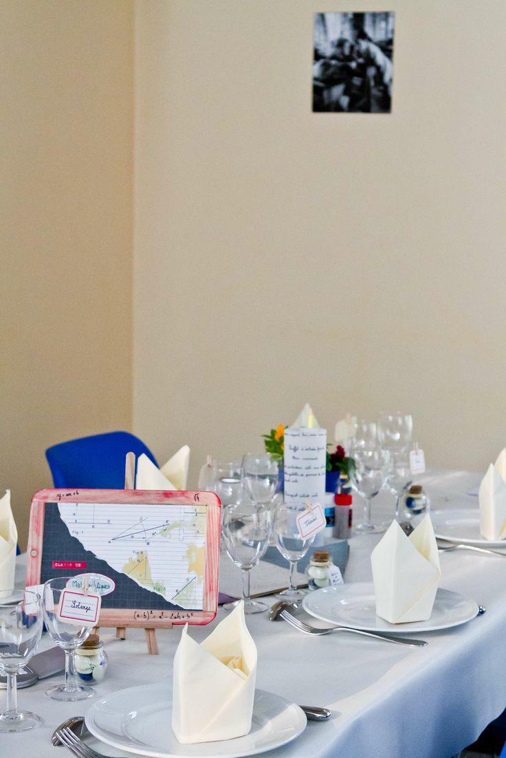 Décoration Mariage sur le thème de lécole Wedding decoration on ...