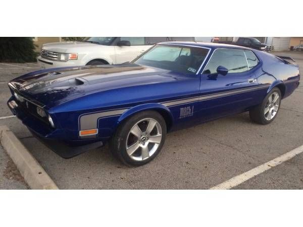 1972 Ford Mustang Mach 1 Fastback Cars Pinterest