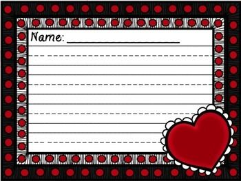 valentine's day writing exercises