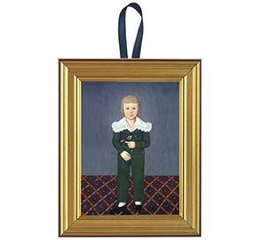 Boy with Finch Miniature Framed Print | Colonial Decor | Pinterest