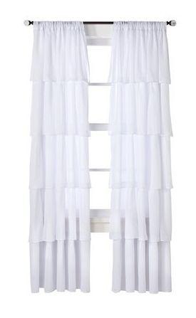 Target ruffle curtains home decor pinterest