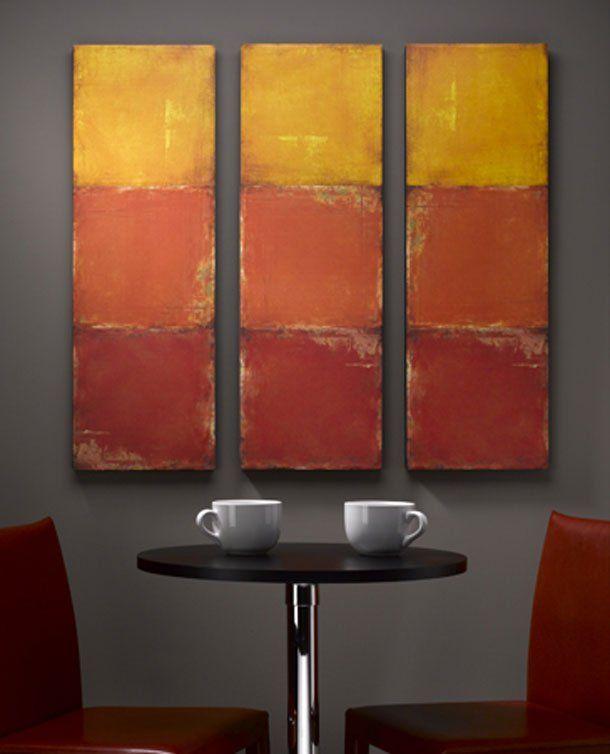 Wall Decor With Scrapbook Paper : Scrapbook paper wall art decorating color scheme