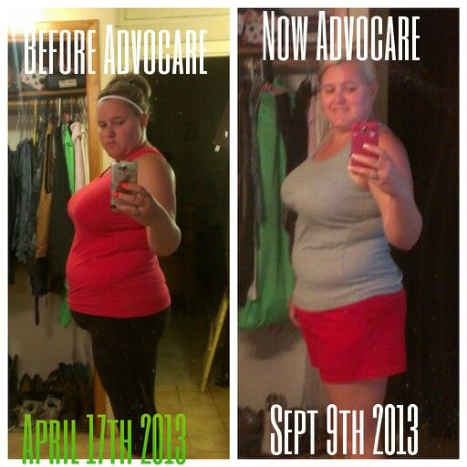 My results from using advocare love it it works www advocare com