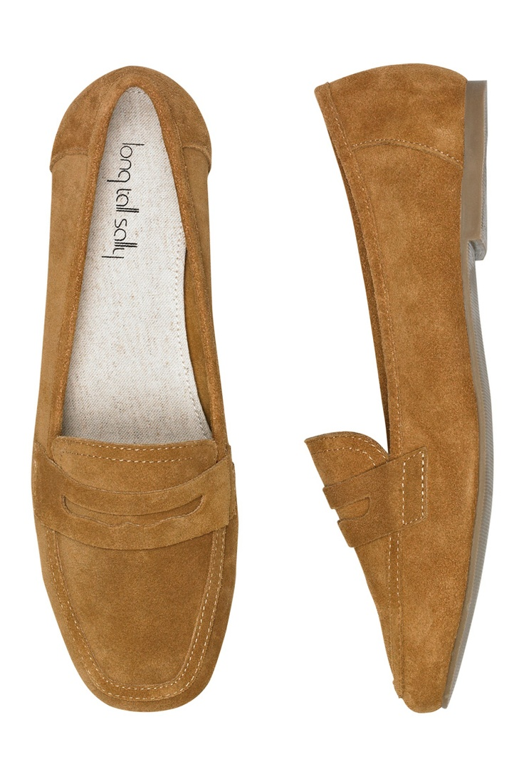 Tan Suede Loafer from Long Tall Sally available in UK 7-11, US 10-13