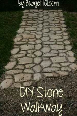 Diy walkway ideas for the yard pinterest for How to build a stone house yourself