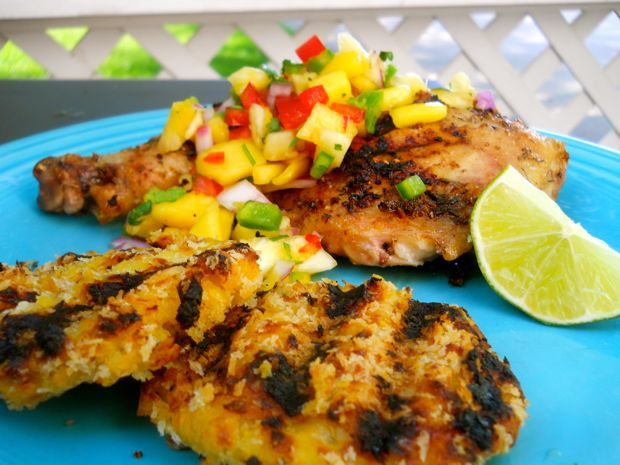 jerk chicken with pineapple mango salsa | Recipes | Pinterest