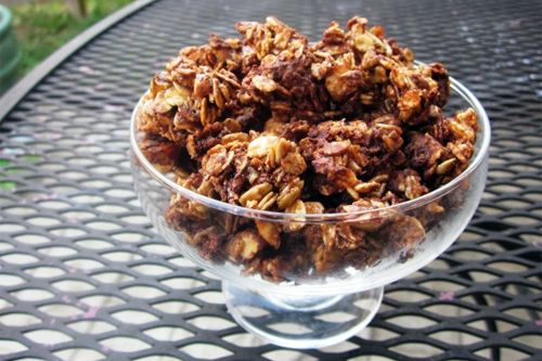 in love with this Chocolate Almond Granola. I exchange the brown ...