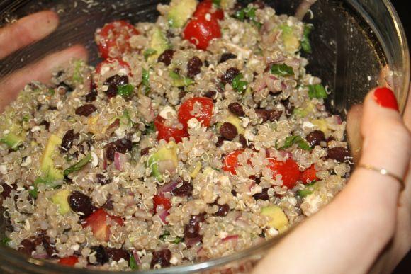 Black Bean, Avocad, Tomato Quinoa Salad | Food! :) | Pinterest