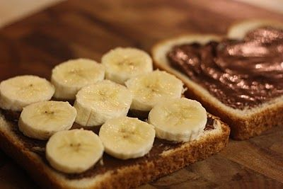 Grilled Nutella Banana Sandwich | Comida | Pinterest
