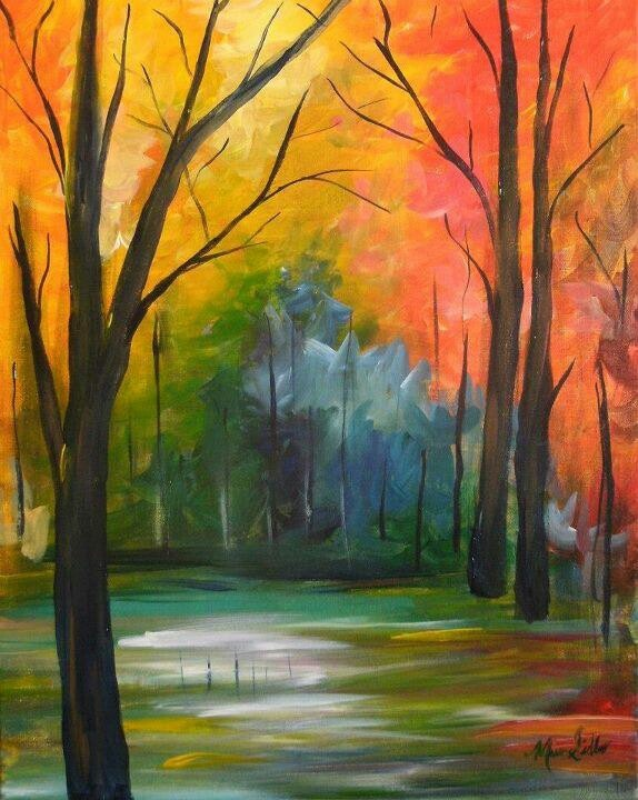 Fall road painting painting ideas pinterest for Fall pictures to paint