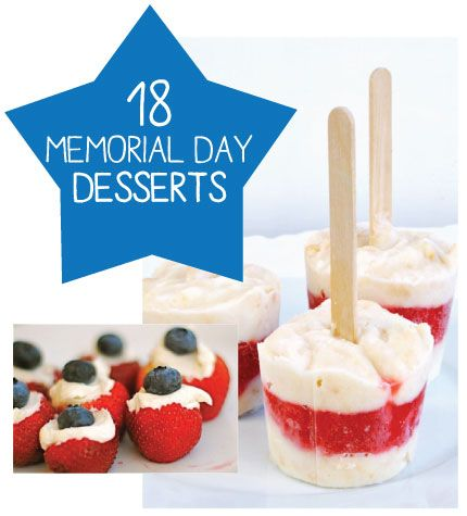 memorial day desserts with strawberries
