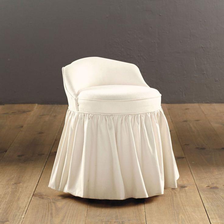 Ballard Design Bathroom Vanity : Upholstered swivel stool dream house