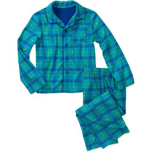 Tristian from Mom & Dad, Boys' 2 Piece Coat Pajama Set- blue plaid ...: pinterest.com/pin/339740365612274228