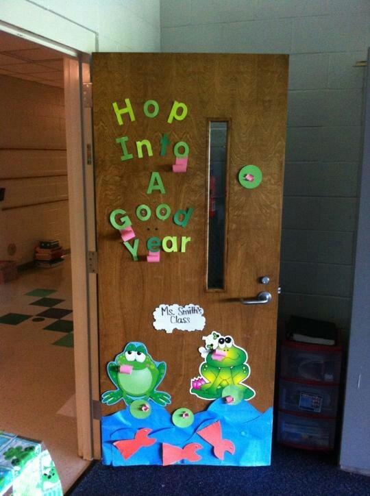 Back to school froggy door bulletin boards door ideas - Back to school door ideas ...