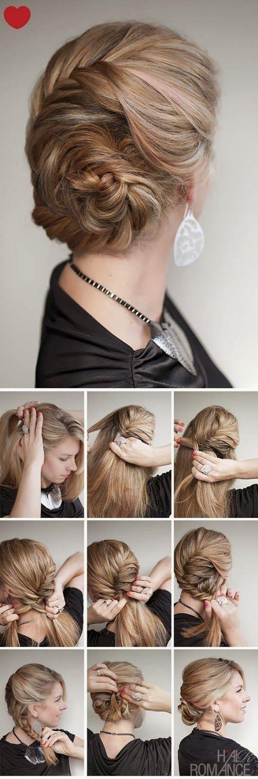 Причёска ракушка своими руками на короткие волосы