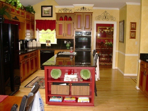 Red and yellow kitchen really cute paint ideas for Cute yellow kitchen ideas