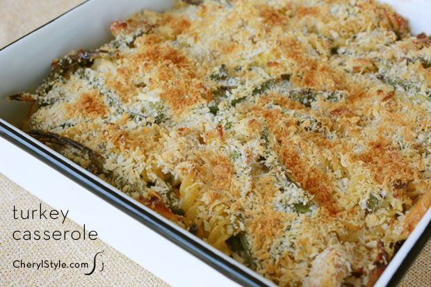 Turkey Casserole Recipe - use your leftover turkey this Thanksgiving ...