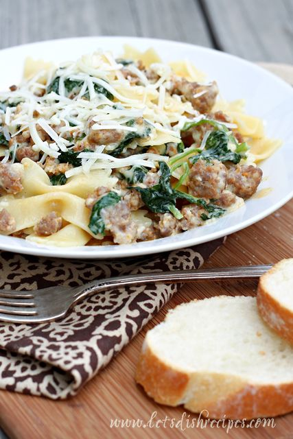 Pasta with Spicy Sausage and Rapini | Recipe
