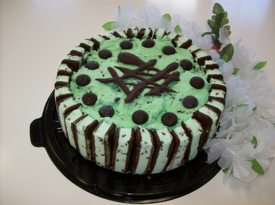 Mint chocolate chip ice cream cake | FOOD AND DRINK | Pinterest