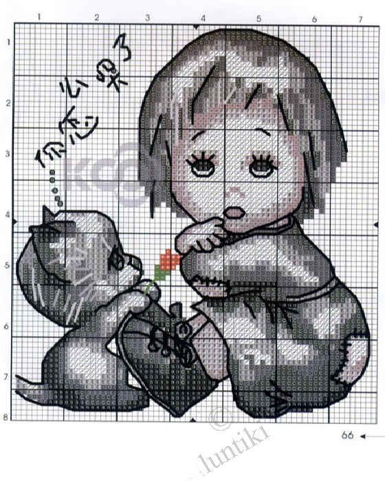Вышивка крестом детки схемы