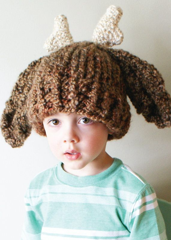 Knitting Pattern Deer Hat : Knitting PATTERN - Chunky Deer Hat in Toddler, Child and ...
