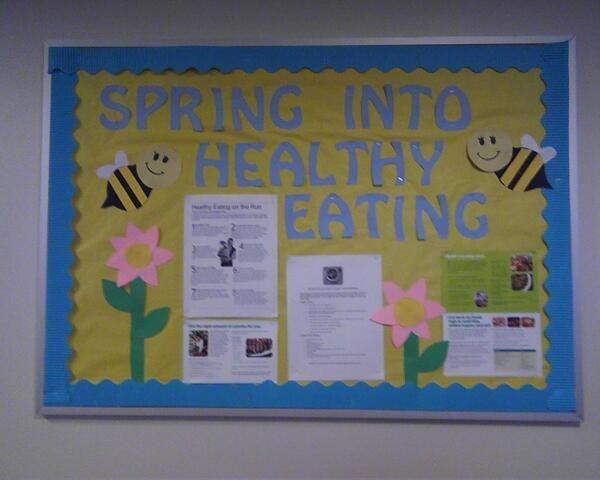 Classroom Bulletin Board Ideas Nutrition Month : My national nutrition month bulletin board teacher