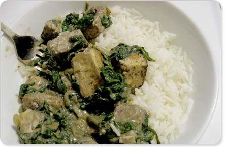 saag tofu | recettes - tofu/tempeh/seitan | Pinterest