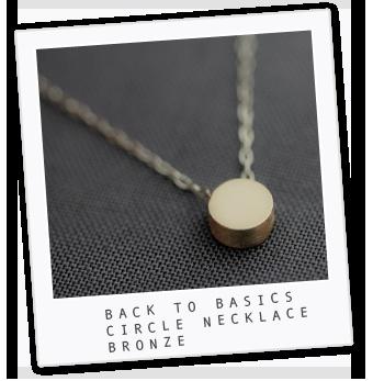 Back to Basics Circle Necklace – Bronze  uppermetalclass.com - I want!