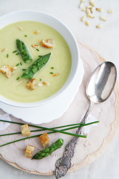 Cream of Asparagus Soup | A Savory... | Pinterest
