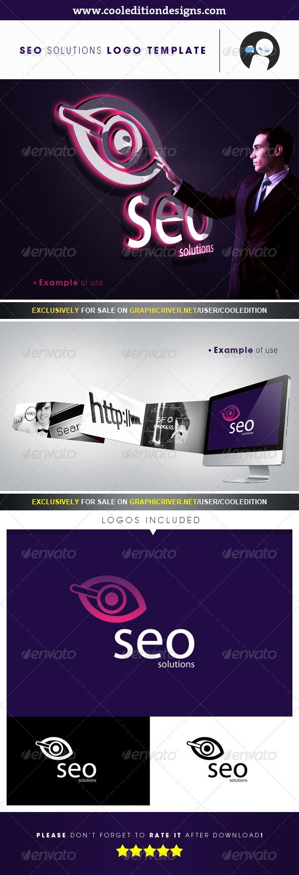 SEO Solutions - Logo Template | $29