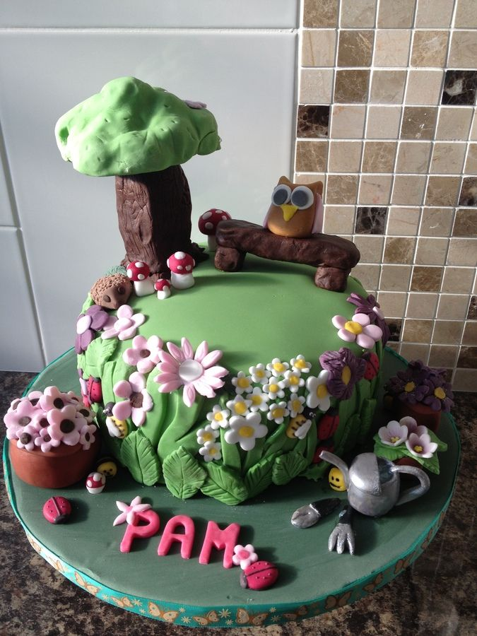 images of cakes with garden theme - photo #8