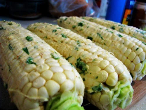 Corn On The Cob With Cilantro-Lime Butter Recipe — Dishmaps