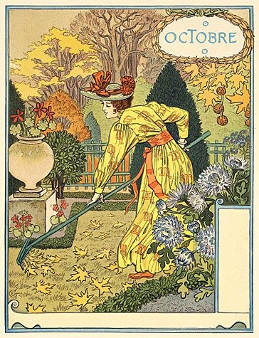 Eugène Grasset. Octobre (October).