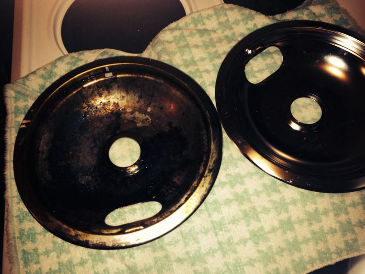 how to clean electric stove top drip pans