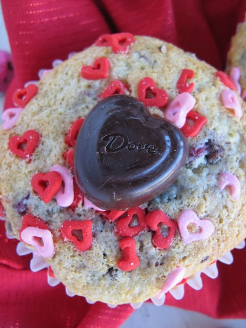 Purple Chocolat Home: Chocolate Raspberry Love Muffins