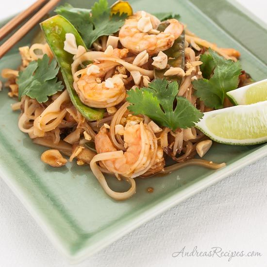 Shrimp Pad Thai, one of our favorite fast weeknight meals