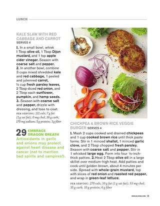 ... 50 Ways to Stand Up to Cancer - chickpea and brown rice veggie burger