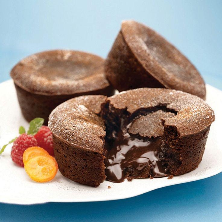 chocolate cake warm molten chocolate cakes recipe yummly chocolate ...