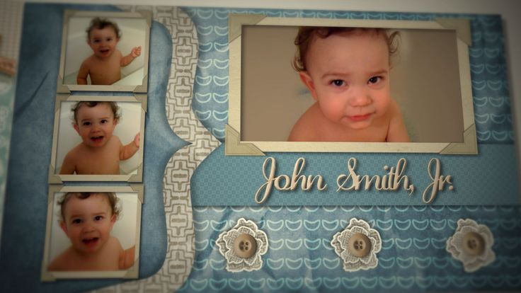 boy scrapbook page ideas | Home › Birthday › Baby Boy Scrapbook ...