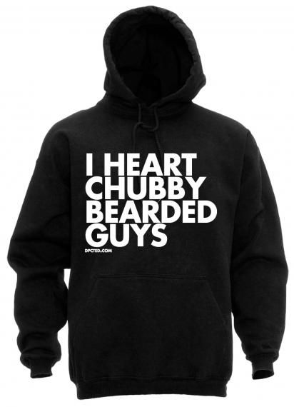 heart chubby bearded guys hoodie $35 | WTF am I gunna wear?! | Pint