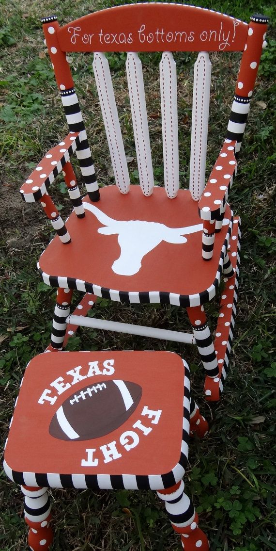 University Of Texas Rocking Chair FREE SHIPPING by elliesshop, $295.00