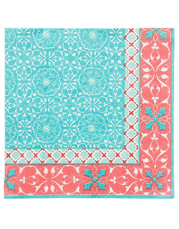 RUMI servett turkos | Papernapkins | Napkin | napkin | Kökstextil | Inredning | INDISKA Shop Online