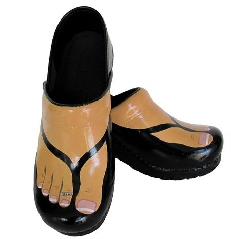 Swanx Hand Painted Clogs
