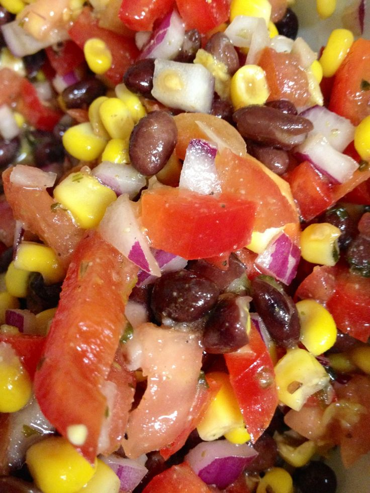 Black Bean and Corn Salsa | appetizers | Pinterest