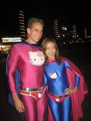 when in danger, call Super Hello Kitty