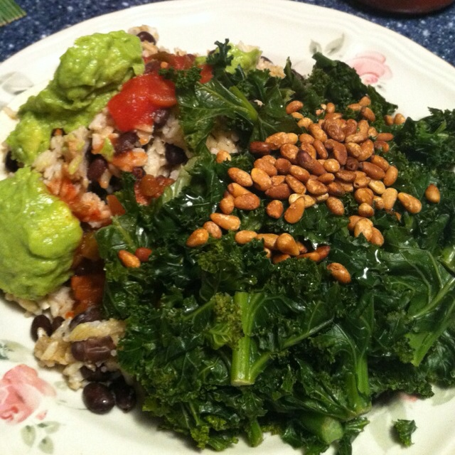 Black bean tacos and kale! Liveahealthieryou.com