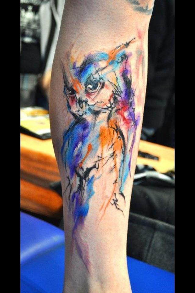 Abstract owl tattoo pretty cool! | Tattoo/Body Art | Pinterest