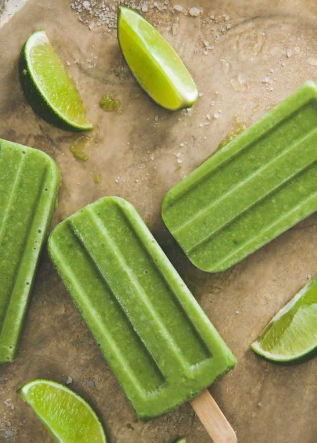lime popsicles at the corner of happy honeydew lime ice pops super ...